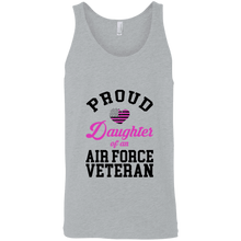 Load image into Gallery viewer, Designs by MyUtopia Shout Out:Proud Daughter of an Air Force Veteran Tank Top,Athletic Heather / X-Small,Tank Tops