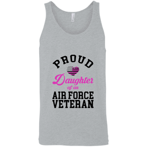 Designs by MyUtopia Shout Out:Proud Daughter of an Air Force Veteran Tank Top,Athletic Heather / X-Small,Tank Tops