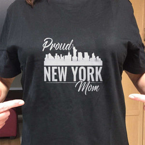 Designs by MyUtopia Shout Out:Proud New York Mom Adult Unisex T-Shirt