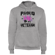 Load image into Gallery viewer, Designs by MyUtopia Shout Out:Proud Wife of a Veteran Core Fleece Pullover Hoodie,Athletic Heather / S,Pullover Hoodie