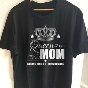 Designs by MyUtopia Shout Out:Queen Mom Adult Unisex T-Shirt,S / Black,Adult Unisex T-Shirt