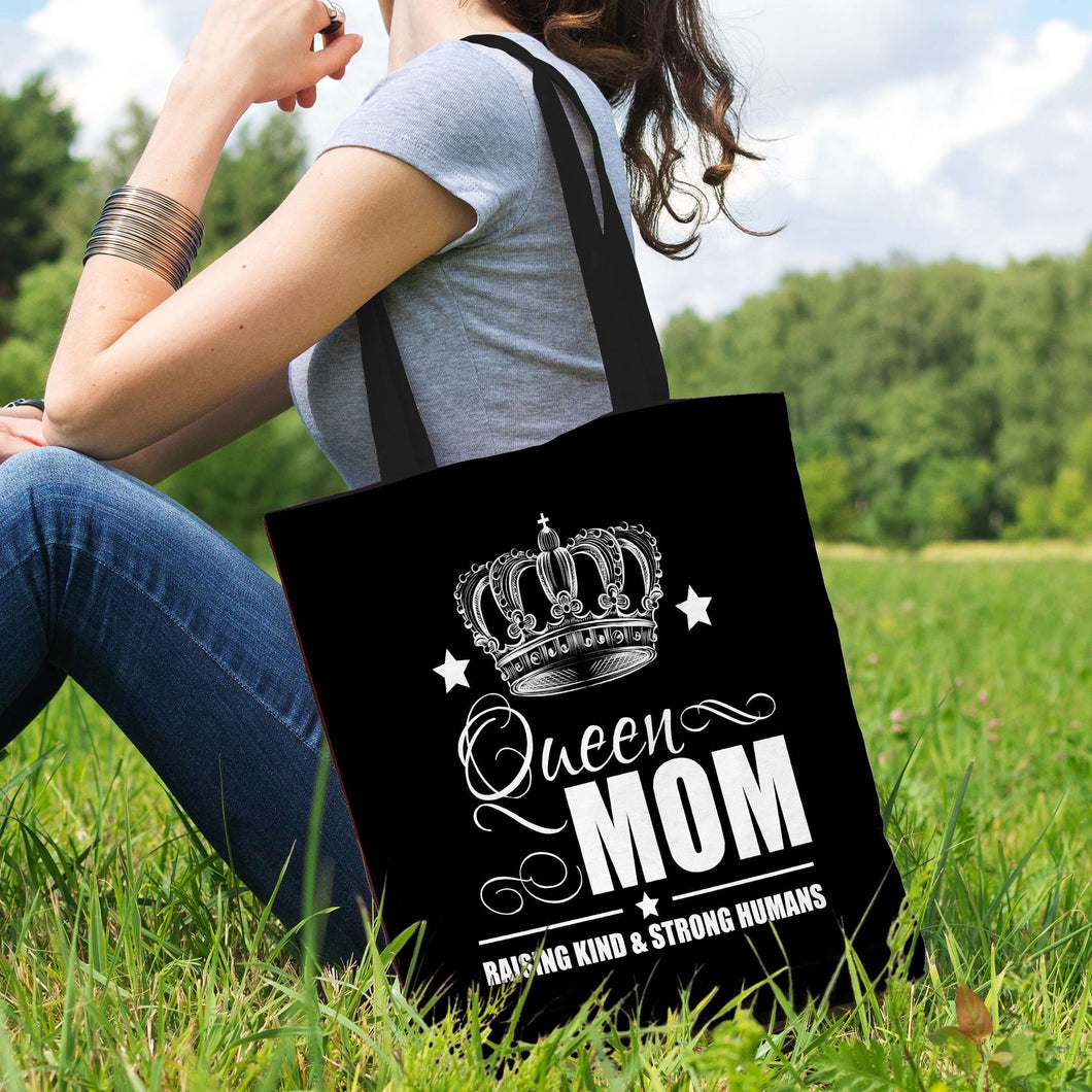 Designs by MyUtopia Shout Out:Queen Mom Fabric Totebag Reusable Shopping Tote