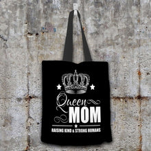 Load image into Gallery viewer, Designs by MyUtopia Shout Out:Queen Mom Fabric Totebag Reusable Shopping Tote