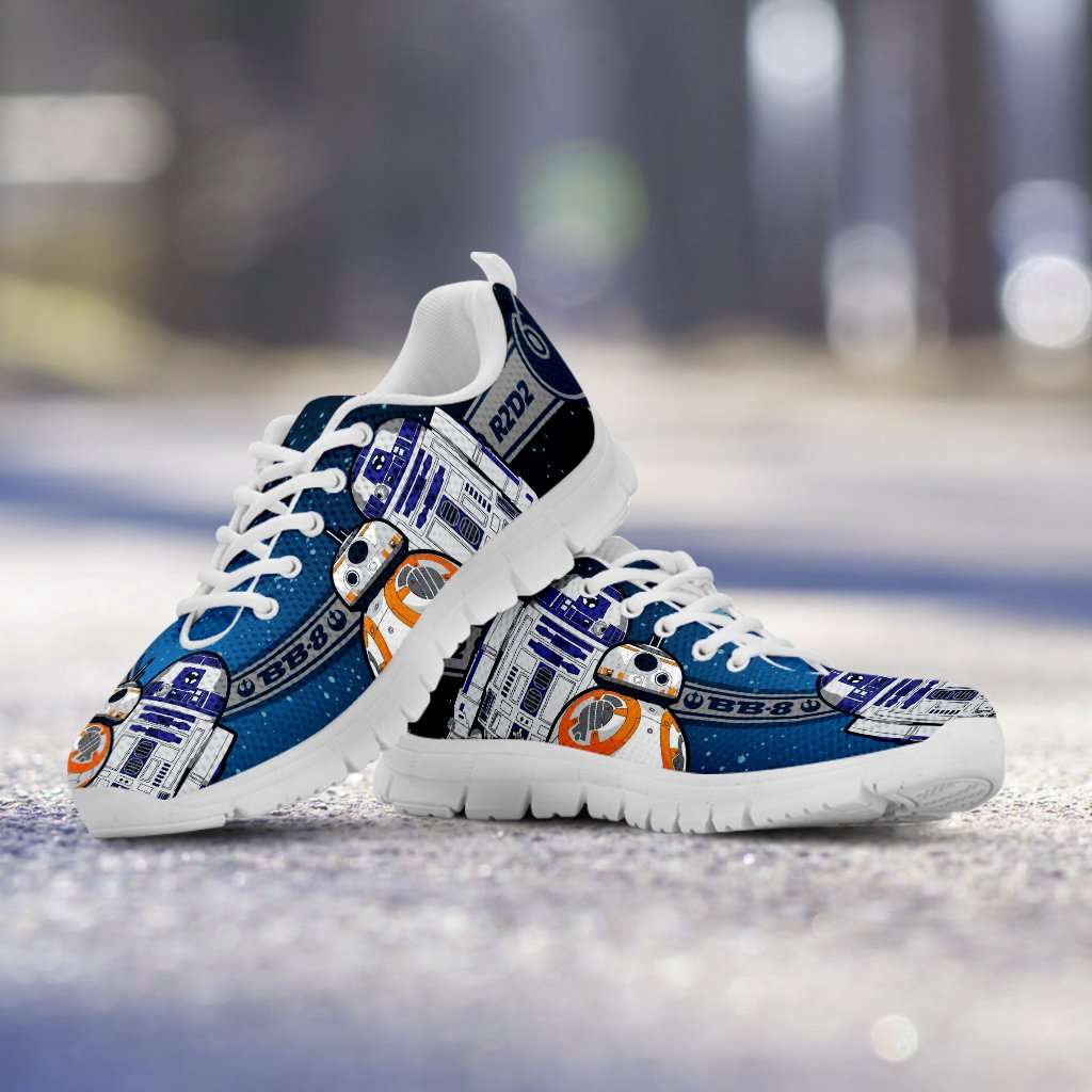 Designs by MyUtopia Shout Out:R2-D2 and BB8 As Friends Running Shoes