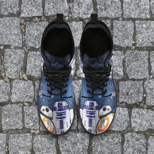 Designs by MyUtopia Shout Out:R2-D2 and BB8 As Friends Vegan Leather Boots