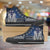Designs by MyUtopia Shout Out:R2-D2 Canvas High Top Shoes Blue/Grey,Men's / Mens US 5 (EU38) / Blue/Grey,High Top Sneakers