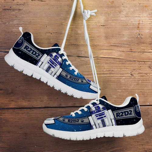 Designs by MyUtopia Shout Out:R2-D2 Running Shoes - Blue / Grey,Kid's / 11 CHILD (EU28) / Blue/Grey,Running Shoes