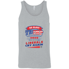 Load image into Gallery viewer, Designs by MyUtopia Shout Out:Re-Elect Trump Make Liberals Cry Cotton Unisex Tank Top,Athletic Heather / X-Small,Tank Tops