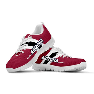 Designs by MyUtopia Shout Out:#RedSea Arizona Cardinals Fan Running Shoes,Kid's / 11 CHILD (EU28) / Red/Black/White,Running Shoes