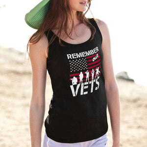 Designs by MyUtopia Shout Out:Remember Our Veterans Unisex Tank