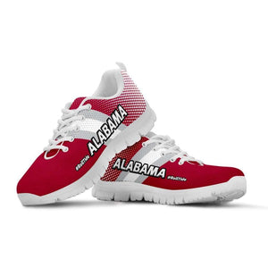 Designs by MyUtopia Shout Out:#RollTide Alabama Fan Running Shoes,Kid's / 11 CHILD (EU28) / Red/White,Running Shoes