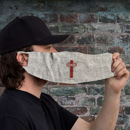 Designs by MyUtopia Shout Out:Salvation Acts 4:12 Fabric Face Covering / Face Mask