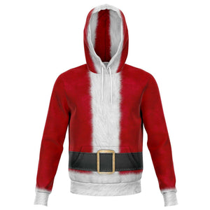 Designs by MyUtopia Shout Out:Santa Costume Premium Fashion Hoodie,XS / Red,Fashion Hoodie - AOP