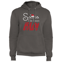 Load image into Gallery viewer, Designs by MyUtopia Shout Out:Santa I've Been Bad - Core Fleece Unisex Pullover Hoodie,Charcoal / S,Sweatshirts