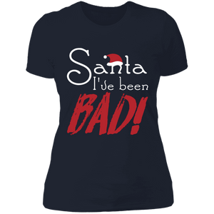 Designs by MyUtopia Shout Out:Santa I've Been Bad - Ultra Cotton Ladies' T-Shirt,Midnight Navy / X-Small,Ladies T-Shirts