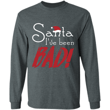Load image into Gallery viewer, Designs by MyUtopia Shout Out:Santa I've Been Bad - Ultra Cotton Long Sleeve T-Shirt,Dark Heather / S,Long Sleeve T-Shirts