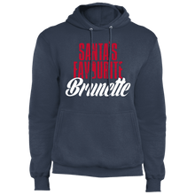 Load image into Gallery viewer, Designs by MyUtopia Shout Out:Santa's Favourite Brunette - Core Fleece Unisex Pullover Hoodie,Navy / S,Sweatshirts