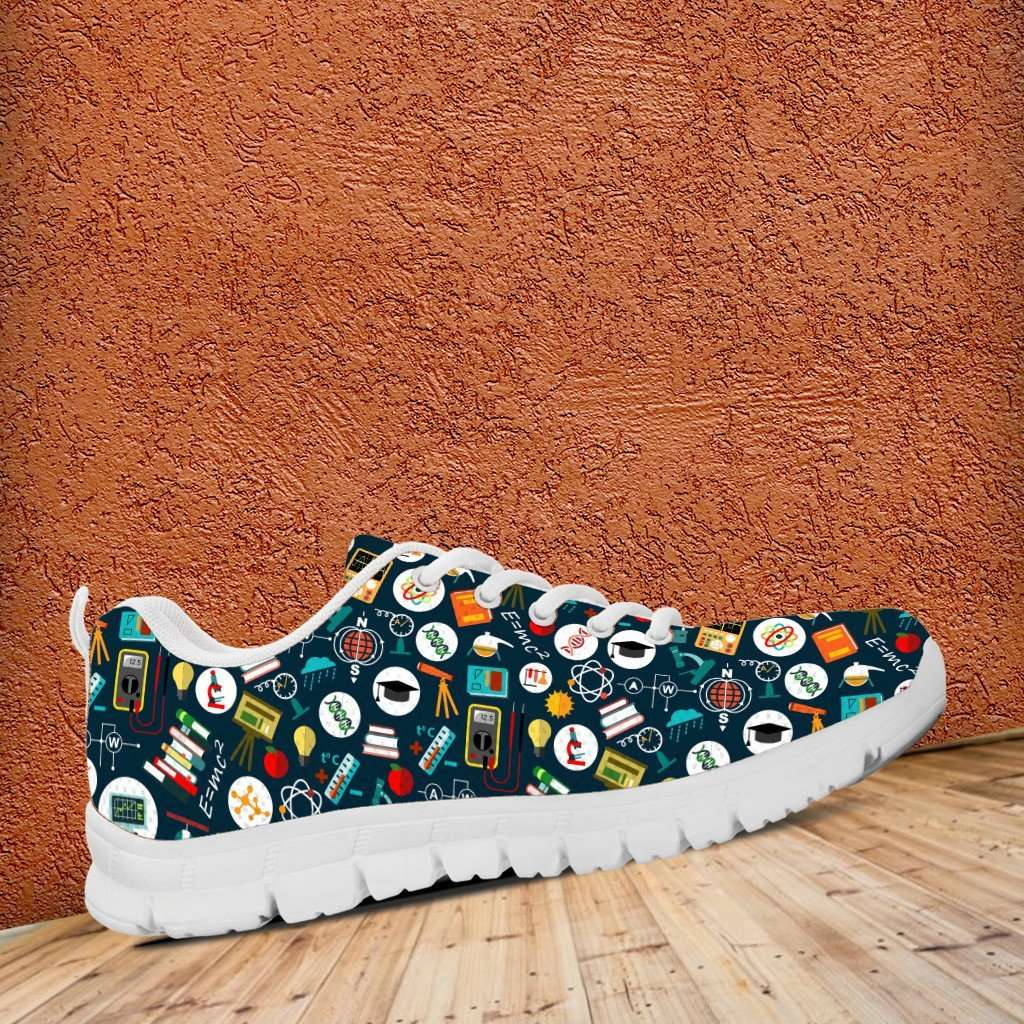 Designs by MyUtopia Shout Out:School Images all over print Teacher Running Shoes,Women's / Ladies US5 (EU35) / Multicolor,Running Shoes