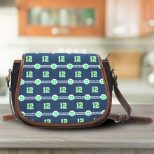 Load image into Gallery viewer, Designs by MyUtopia Shout Out:Seattle Nurse Canvas Saddlebag Style Crossbody Purse