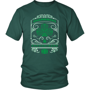 Designs by MyUtopia Shout Out:Shamrocks And Shenanigans T-shirt,Dark Green / S,Adult Unisex T-Shirt