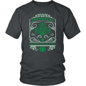 Designs by MyUtopia Shout Out:Shamrocks And Shenanigans T-shirt,Charcoal / S,Adult Unisex T-Shirt