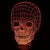 Designs by MyUtopia Shout Out:Skull USB Powered LED Night-light Lamp Glows in Multiple Colors