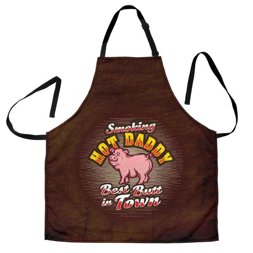 Designs by MyUtopia Shout Out:Smoking Hot Daddy Best Butt In Town Funny Apron, Kitchen, Baking, BBQ, Grilling