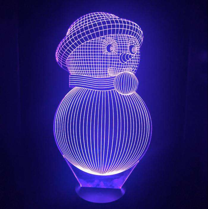Designs by MyUtopia Shout Out:Snowman USB Powered LED Night-light Lamp Glows in Multiple Colors