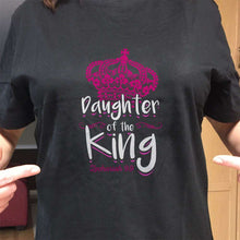 Load image into Gallery viewer, Designs by MyUtopia Shout Out:Son / Daughter of the King Adult Unisex T-Shirt,Daughter Black / Small,Adult Unisex T-Shirt