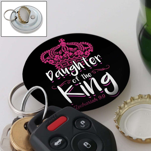 Designs by MyUtopia Shout Out:Son / Daughter of The King Magnetic Keychain and Bottle Opener,Black-Daughter,Keychain bottle opener