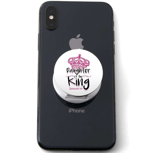 Designs by MyUtopia Shout Out:Son / Daughter of The King Zach 9:9 Pop-out Phone Grip for Smartphones and Tablets,Daughter White,Pop Phone Grip