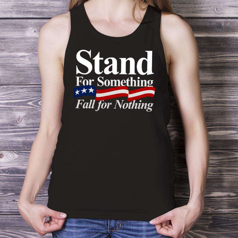 Designs by MyUtopia Shout Out:Stand For Something Fall For Nothing Trump Unisex Tank