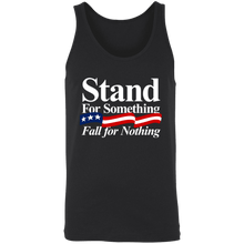 Load image into Gallery viewer, Designs by MyUtopia Shout Out:Stand For Something Fall For Nothing Trump Unisex Tank,X-Small / Black,Tank Tops