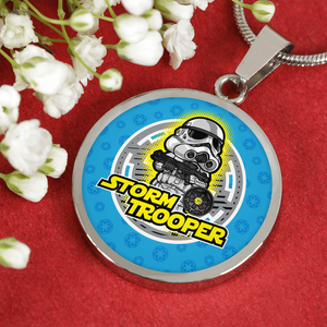 "Designs by MyUtopia Shout Out:Stormtrooper Handcrafted Bangle Jewelry,Necklace adjustable 18"" - 22"" / Silver,Necklace"