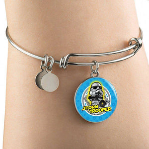 Designs by MyUtopia Shout Out:Stormtrooper Handcrafted Bangle Jewelry