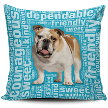 Load image into Gallery viewer, Designs by MyUtopia Shout Out:Sweet Bulldog Pillowcases,Blue,Pillowcases