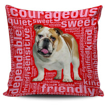Load image into Gallery viewer, Designs by MyUtopia Shout Out:Sweet Bulldog Pillowcases,Red,Pillowcases