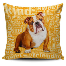 Load image into Gallery viewer, Designs by MyUtopia Shout Out:Sweet Bulldog Pillowcases,Gold,Pillowcases