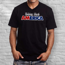 Load image into Gallery viewer, Designs by MyUtopia Shout Out:Taking Back America Trump Men's Printed V-Neck T-Shirt