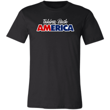 Load image into Gallery viewer, Designs by MyUtopia Shout Out:Taking Back America Unisex Jersey Short-Sleeve T-Shirt,X-Small / Black,Adult Unisex T-Shirt