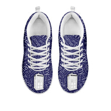 Load image into Gallery viewer, Designs by MyUtopia Shout Out:TARDIS - Women's Running Shoes,Women's / Ladies US5 (EU35) / Blue/White,Running Shoes