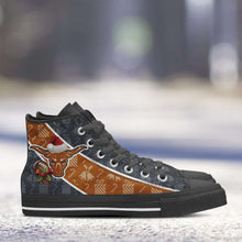 Load image into Gallery viewer, Designs by MyUtopia Shout Out:Texas Longhorns Christmas Football Pattern Canvas High Top Shoes