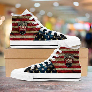 Designs by MyUtopia Shout Out:Texas Strong Canvas High Top Shoes