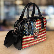 Load image into Gallery viewer, Designs by MyUtopia Shout Out:Texas Strong Faux Leather Handbag with Shoulder Strap