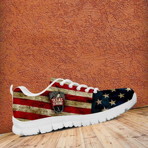 Designs by MyUtopia Shout Out:Texas Strong Running Shoes,Kid's / Kid's 11 CHILD (EU28) / Red/Blue/Off-White,Running Shoes
