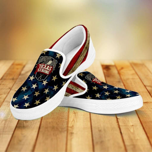 Designs by MyUtopia Shout Out:Texas Strong Slip-on Shoes