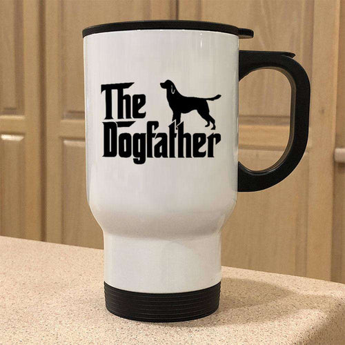 Designs by MyUtopia Shout Out:The Dog Father 14oz Stainless Steel Travel Mug