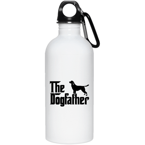 Designs by MyUtopia Shout Out:The Dog Father 20 oz. Stainless Steel Water Bottle,White / One Size,Water Bottles