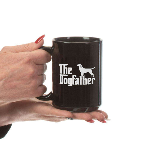 Designs by MyUtopia Shout Out:The Dog Father Ceramic Coffee Mug -  Black