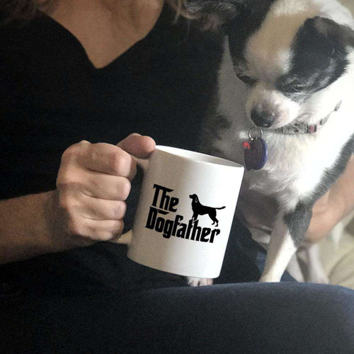 Designs by MyUtopia Shout Out:The Dog Father Ceramic Coffee Mug - White